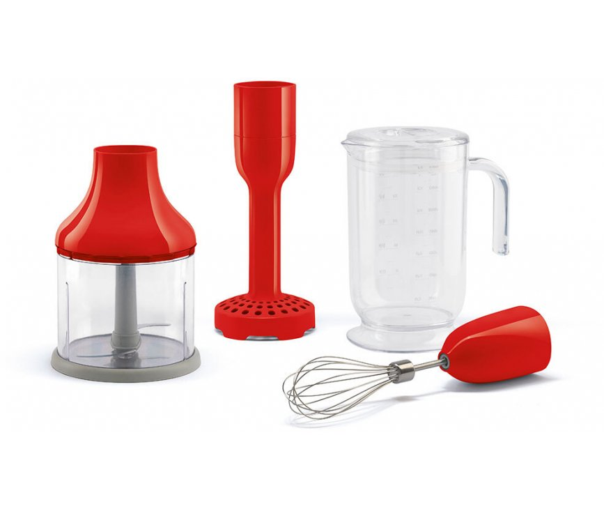 Smeg HBAC01RD accessoire set voor staafmixer - rood