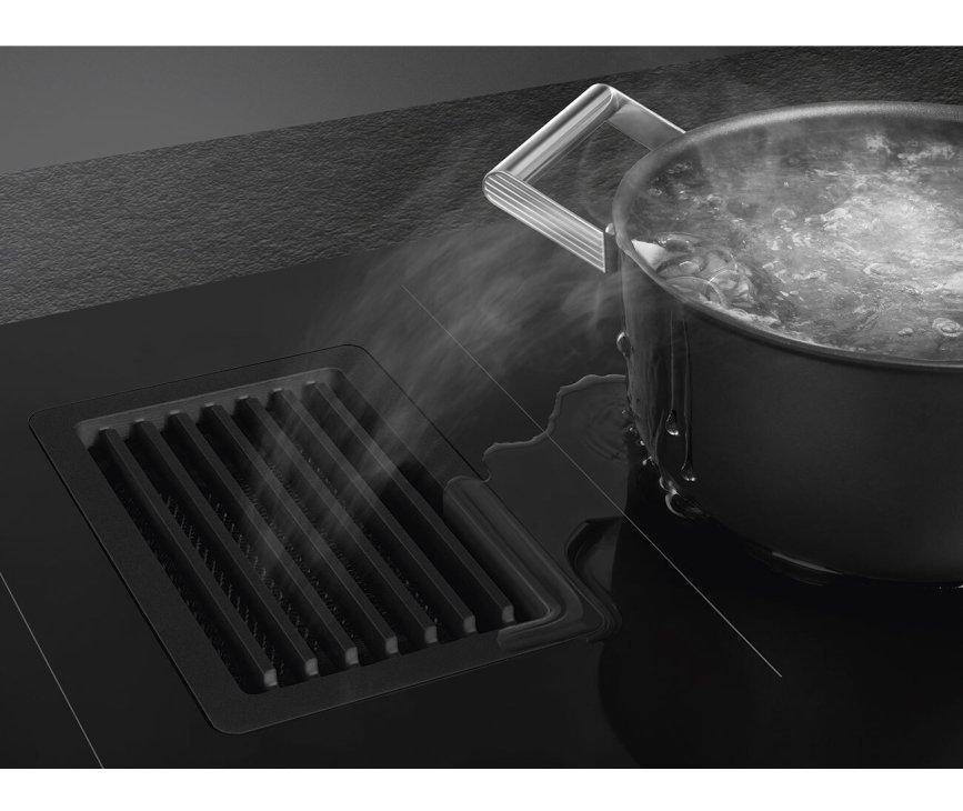 Smeg HOBD682D1 inductie kookplaat met afzuiging inbouw