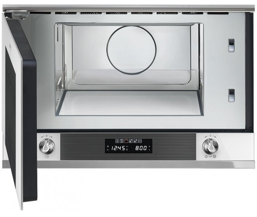 Smeg MP122B1 inbouw magnetron met grill - wit