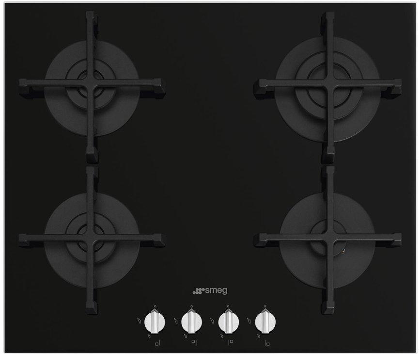 Smeg PV264NNLK-S inbouw gas kookplaat - gas-op-glas