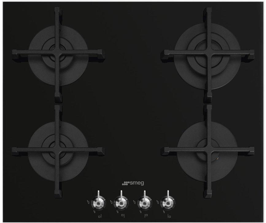 Smeg PV364NNLK-CL inbouw gaskookplaat - gas-op-glas