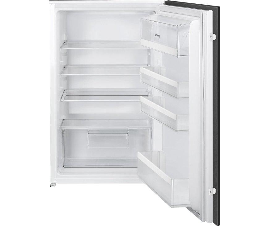 Smeg S4L090F inbouw koelkast - nis 88 cm. - sleepdeur