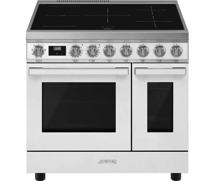 Smeg CPF92IMWH inductie fornuis - wit - dubbele oven - Portofino