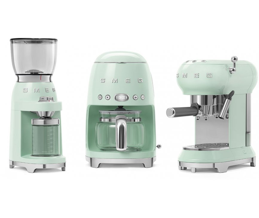 Smeg ECF01PGEU espresso koffiemachine - watergroen