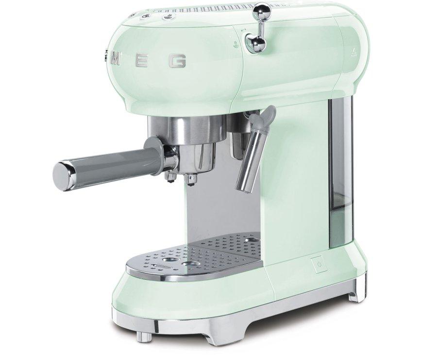 SMEG koffiemachine watergroen ECF01PGEU