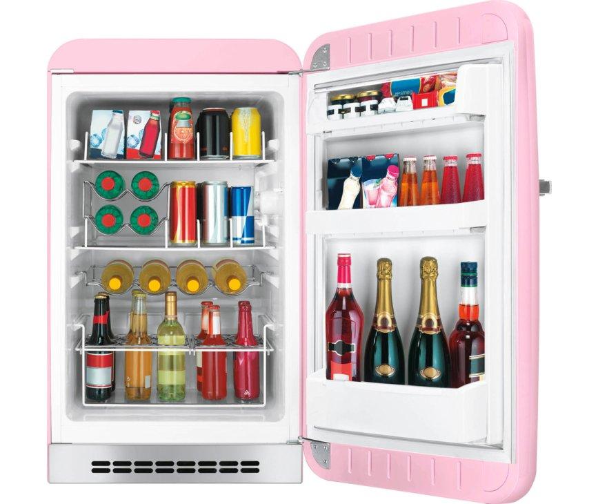 Smeg FAB10HRPK5 roze koelkast - rechtsdraaiend