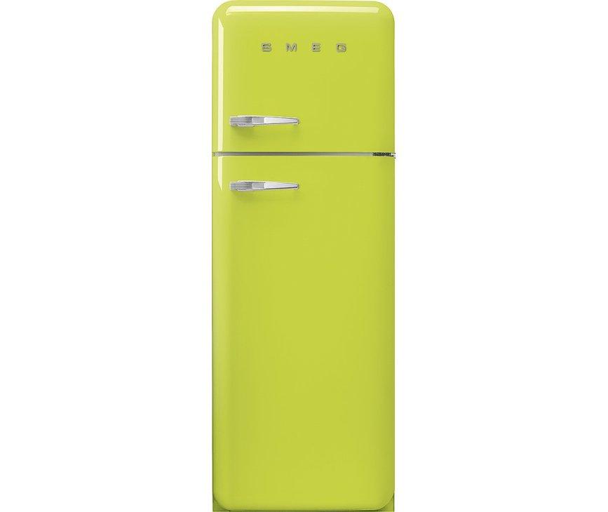 Smeg FAB30RLI5 rechtsdraaiende retro koelkast - lime groen