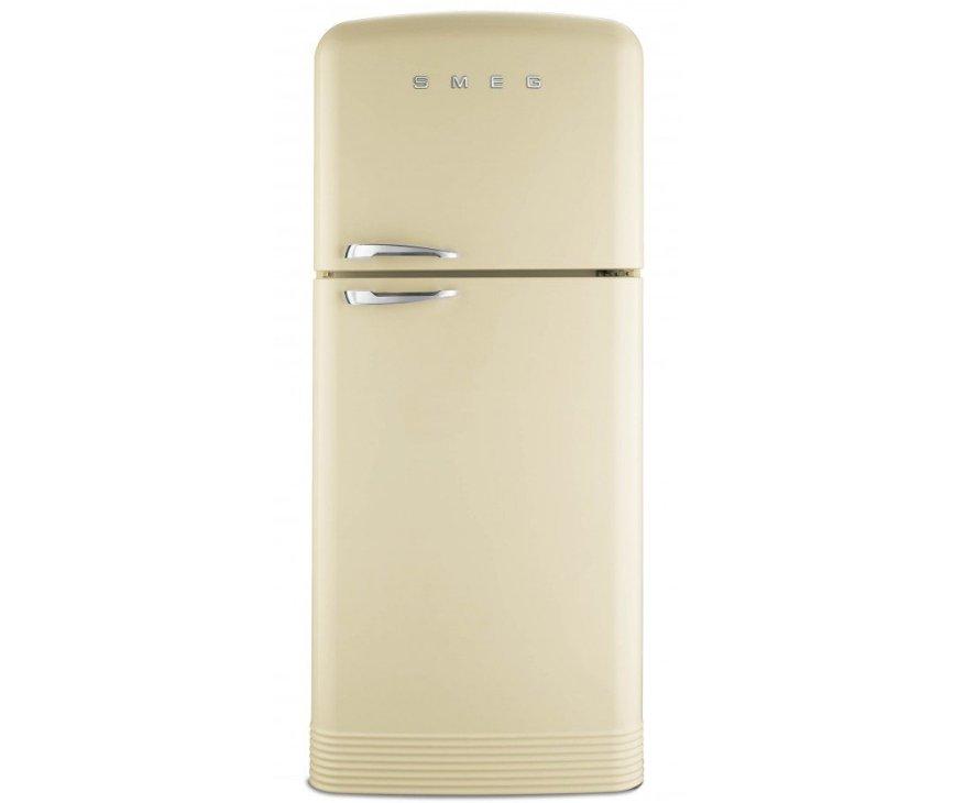 Front zijde van de SMEG creme koelkast FAB50P