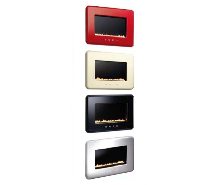 De SMEG gashaarden in retro jaren'50 design zijn leverbaar in het rood, creme, zwart en zilvermetalic