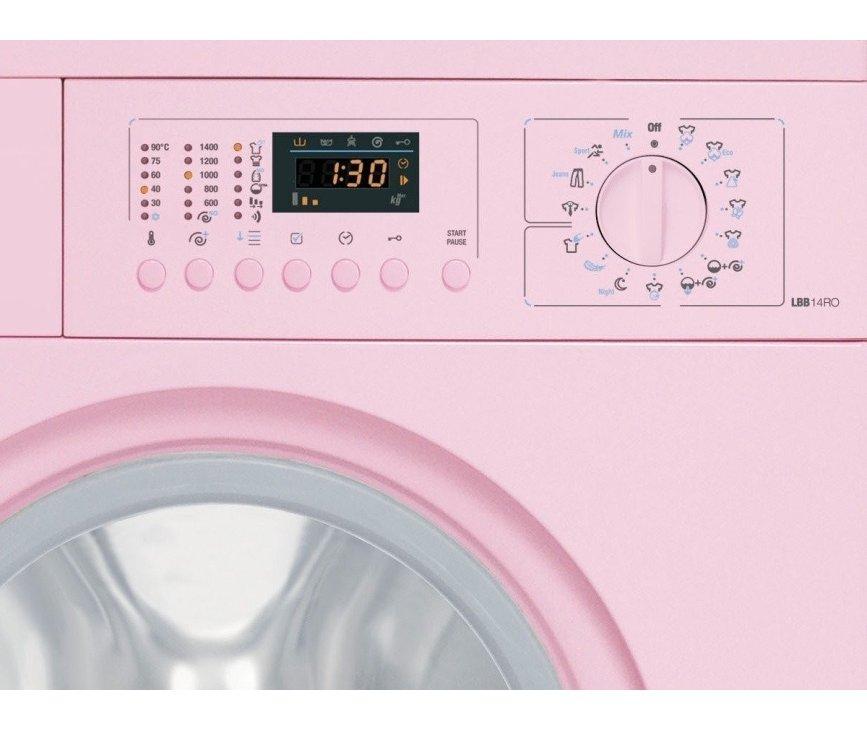 Bedieningspaneel van de Smeg wasmachine roze LBB4PK-2