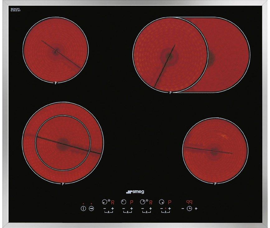 Smeg SE2664CX2 keramische kookplaat