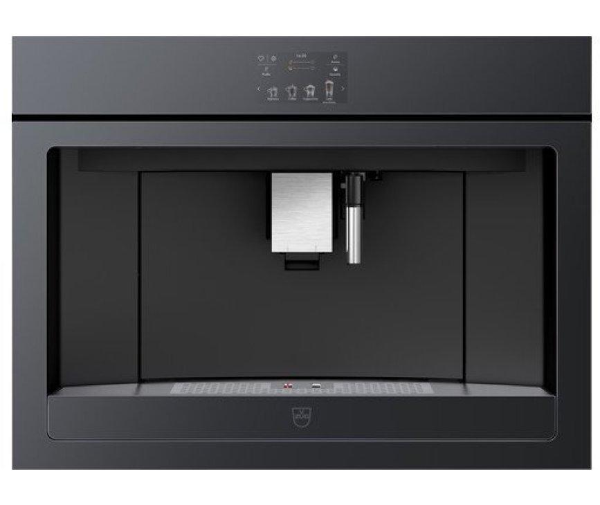 V-Zug CoffeeCenter V6000 45 inbouw koffiemachine - zwart spiegelglas