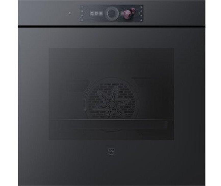 V-Zug Combair V6000 60 AutoDoor - inbouw oven met zwart spiegelglas