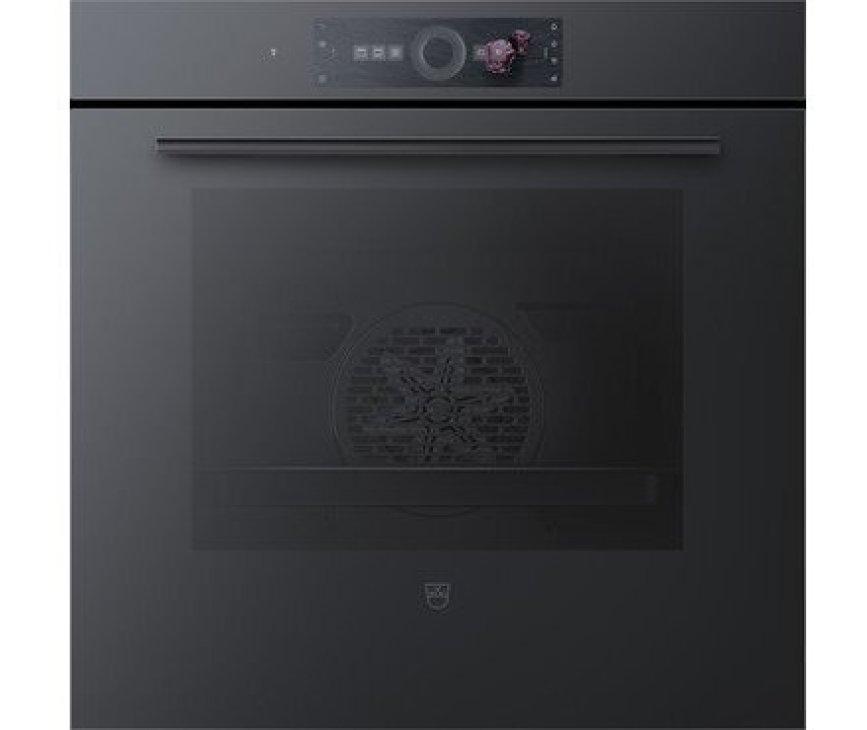 V-Zug Combair V6000 60 inbouw oven - nis 60 cm. - zwart spiegelglas
