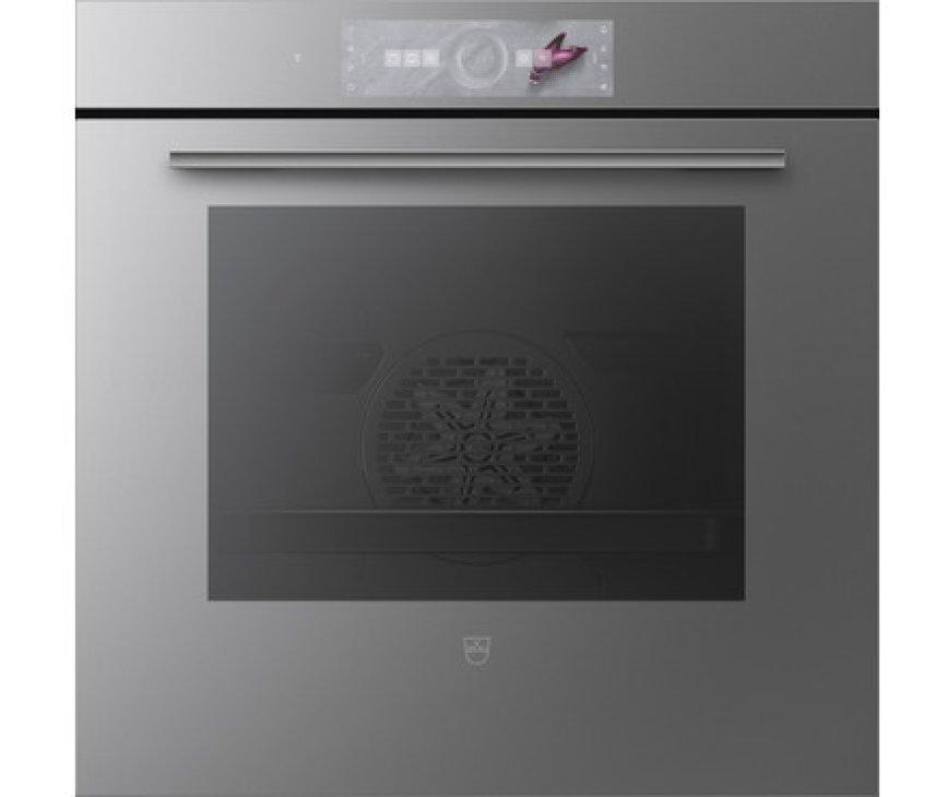 V-Zug Combair V6000 60P inbouw oven met pyrolyse - platinum glas