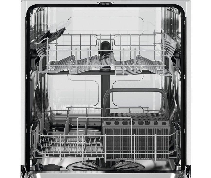 Zanussi ZDSN151X2 inbouw vaatwasser met rvs paneel - 49 dB