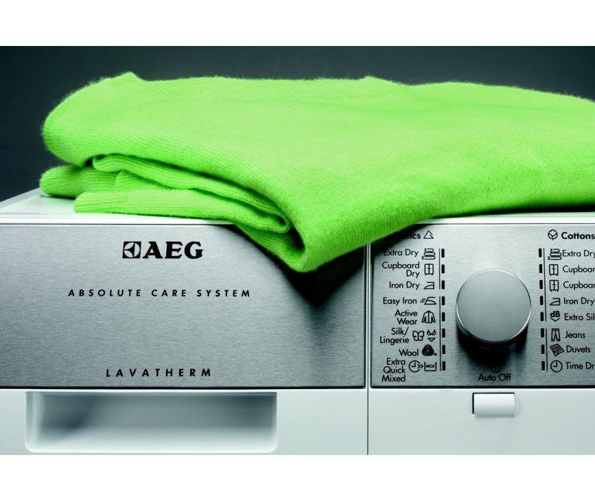 De Aeg T75382NAH warmtepomp droger is voorzien van 9 droogprogramma's