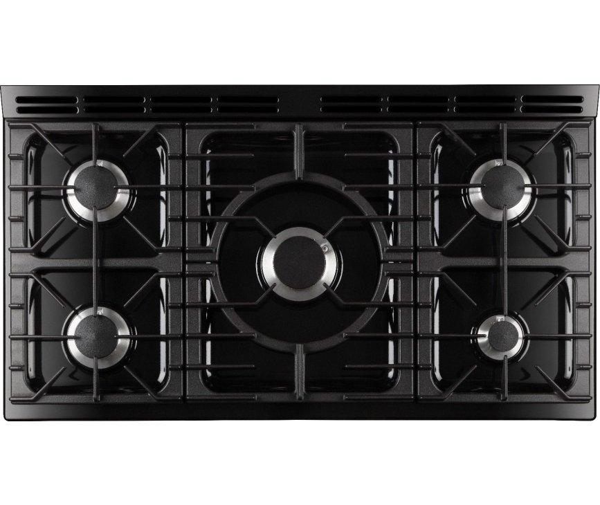 De Aga Masterchef Deluxe 110 fornuis heeft een wokbrander van 5,0 kW