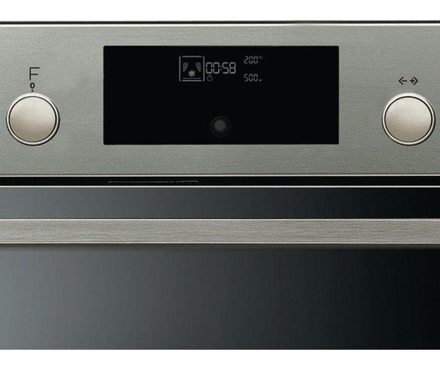 De I-Cook timer met LCD display van de WHIRLPOOL inbouw oven AKZ548IX