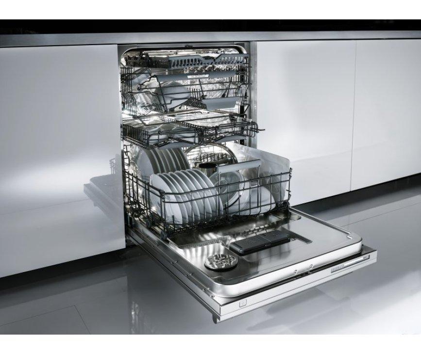 Ideaal is de praktische indeling van de Asko D5896 Fi XXL waarin een ongeëvenaarde hoeveelheid vaat geplaatst kan worden.