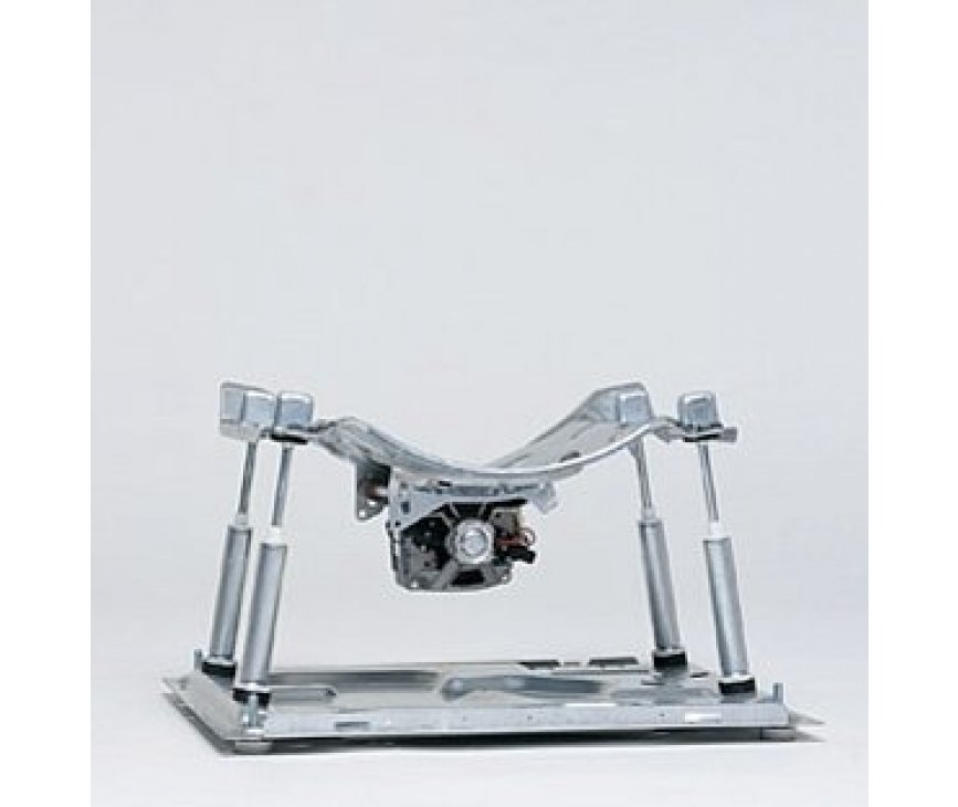 De constructie van de Asko W6884: 4 schokbrekers, SKF-lagers en rvs trommel & kuip vormen het unieke ASKO Quattro systeem.