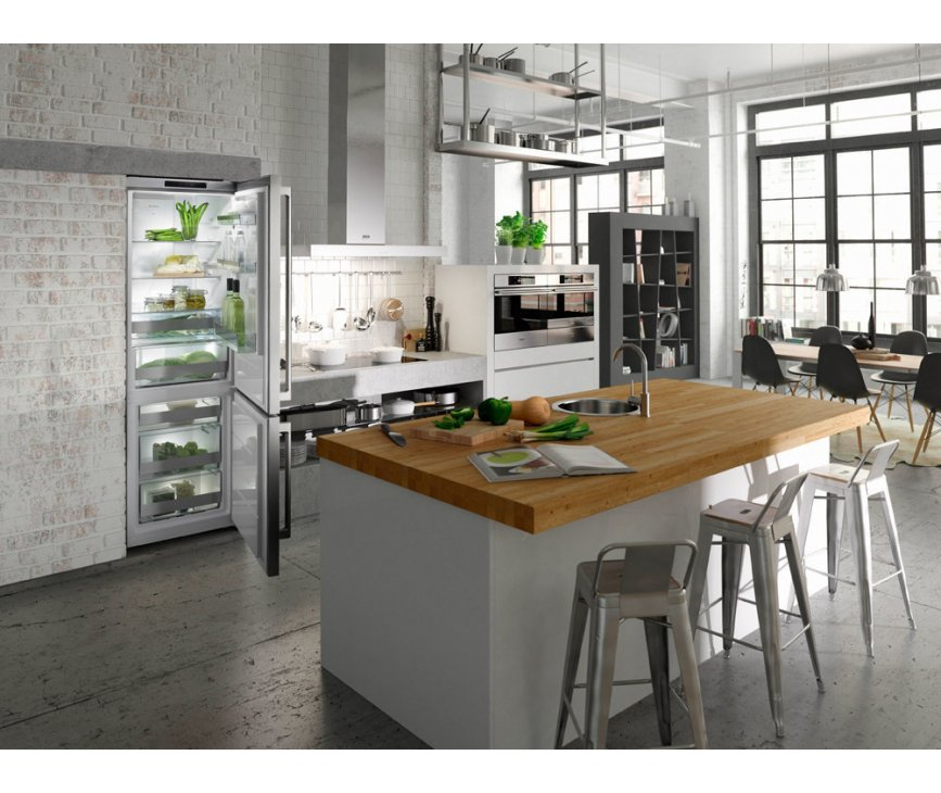 De Asko RFN2286SR strak geintegreerd in de keuken