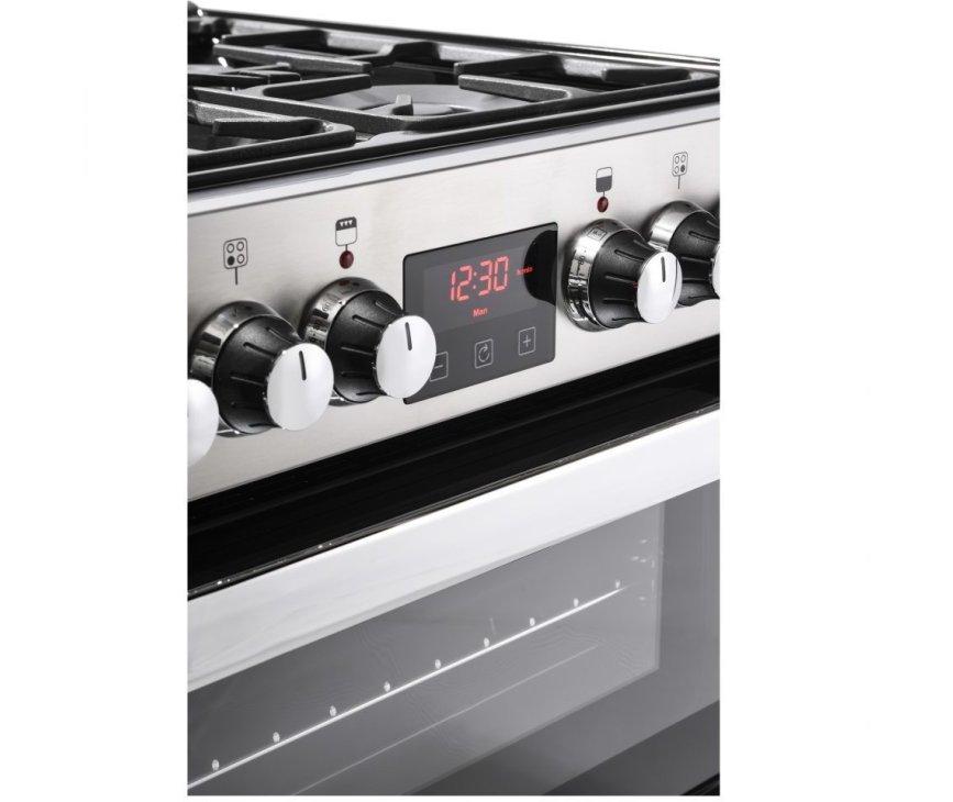 Belling Cookcenter 60 DF EU RVS fornuis