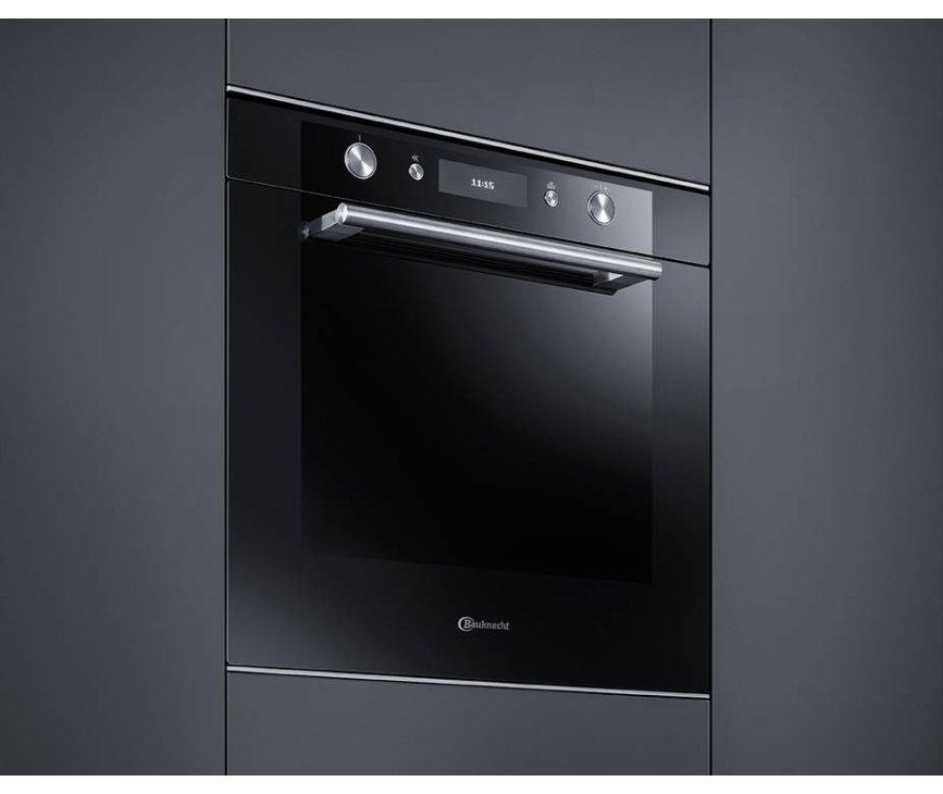 De nieuwe BAUKNECHT inbouw oven BLVMS8100SW heeft een strak en vlak design