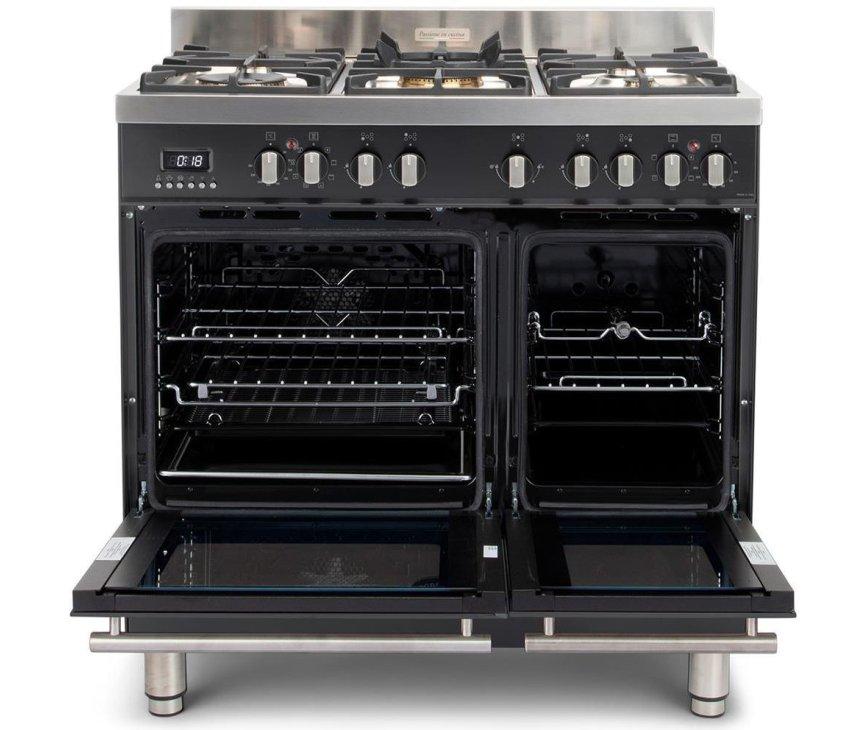 De Milano MFBG902AN heeft twee ovens, beide voorzien van een energieklasse B label