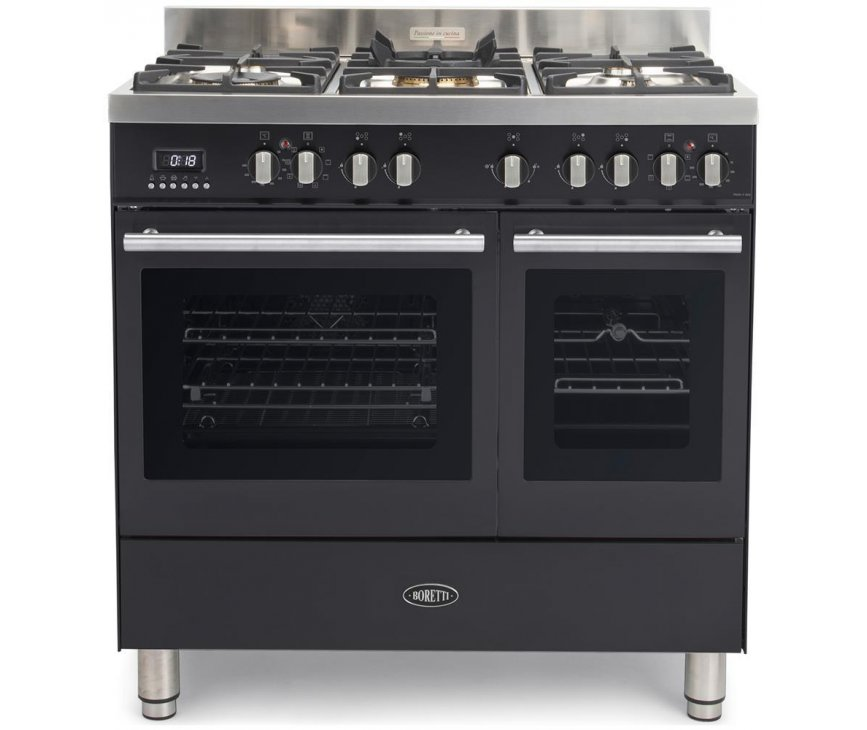 Boretti MFBG902AN fornuis met dubbele oven - Milano