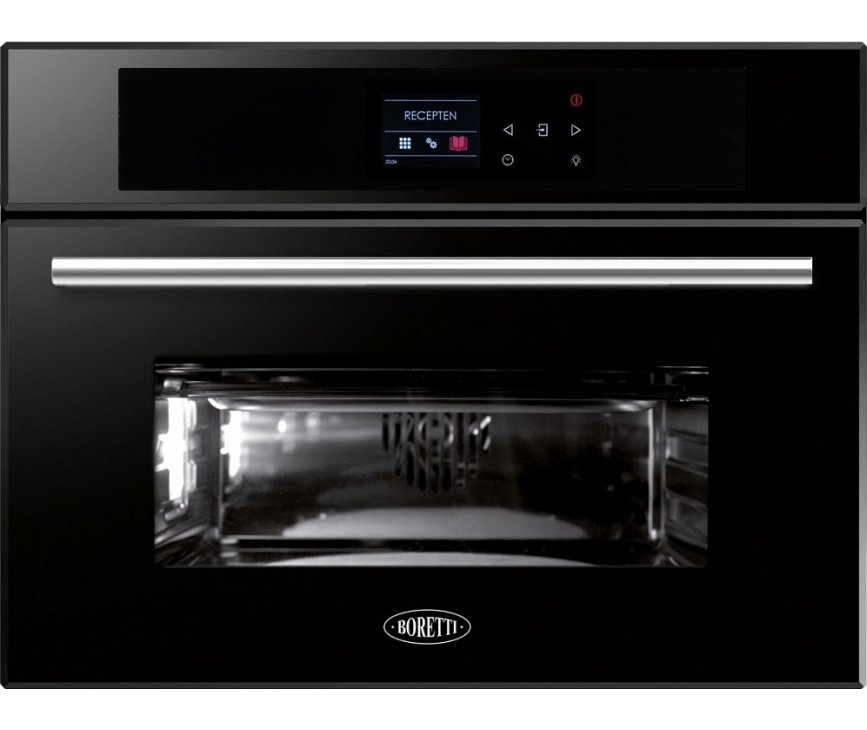 Boretti BPON45ZWGL inbouw oven - zwart