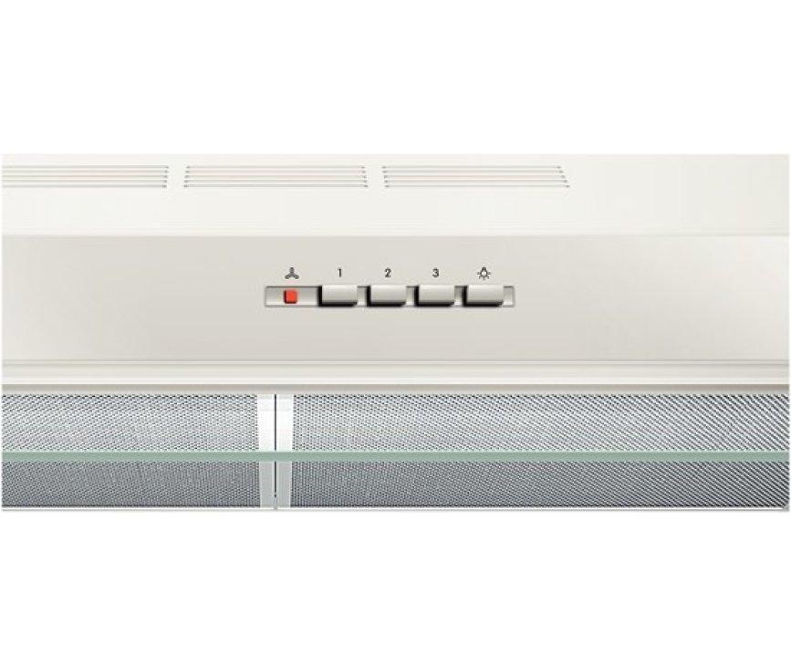 Het bedieningspaneel van de Bosch DHU672U onderbouw afzuigkap wit