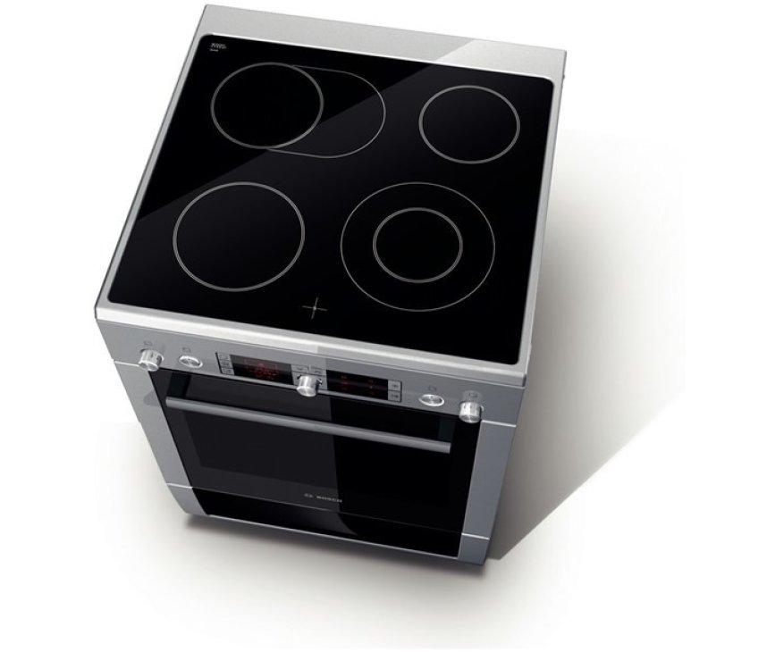 De Bosch HCE754853 fornuis RVS heeft een oven met een inhoud van 67 liter