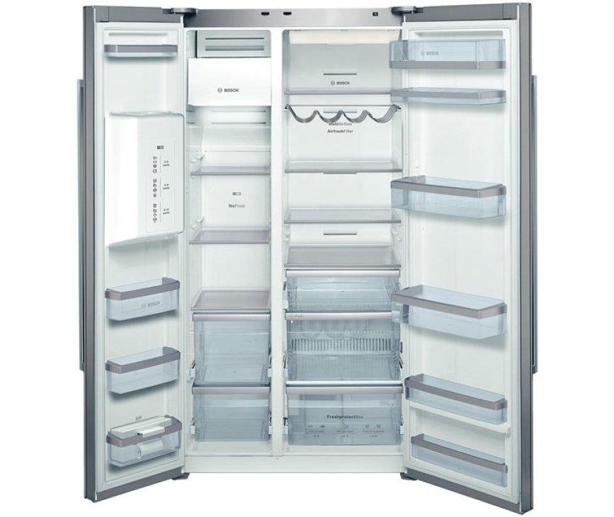 De Bosch KAD62S21 koelkast Glass-white heeft een totale netto-inhoud van 528 liter