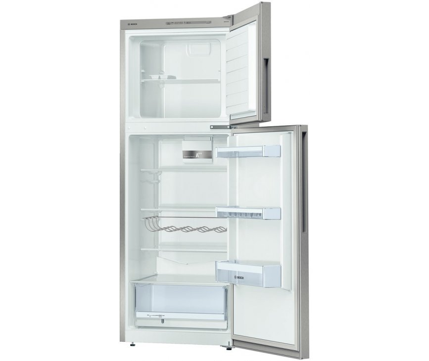 Het interieur van de 161 cm. hoge Bosch KDV29VL30 koelkast RVS-look