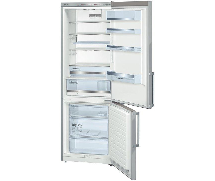 De  Bosch KGE49BI40 koelkast roestvrijstaal heeft een totale netto inhoud van 413 liter