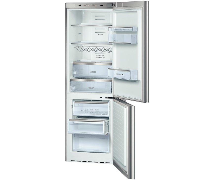 De Bosch KGN36SM30 koelkast RVS is een 168 cm. hoge koelkast met een inhoud van 285 liter