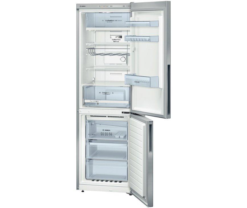 Het interieur van de Bosch KGN36VL31 koelkast RVS-look