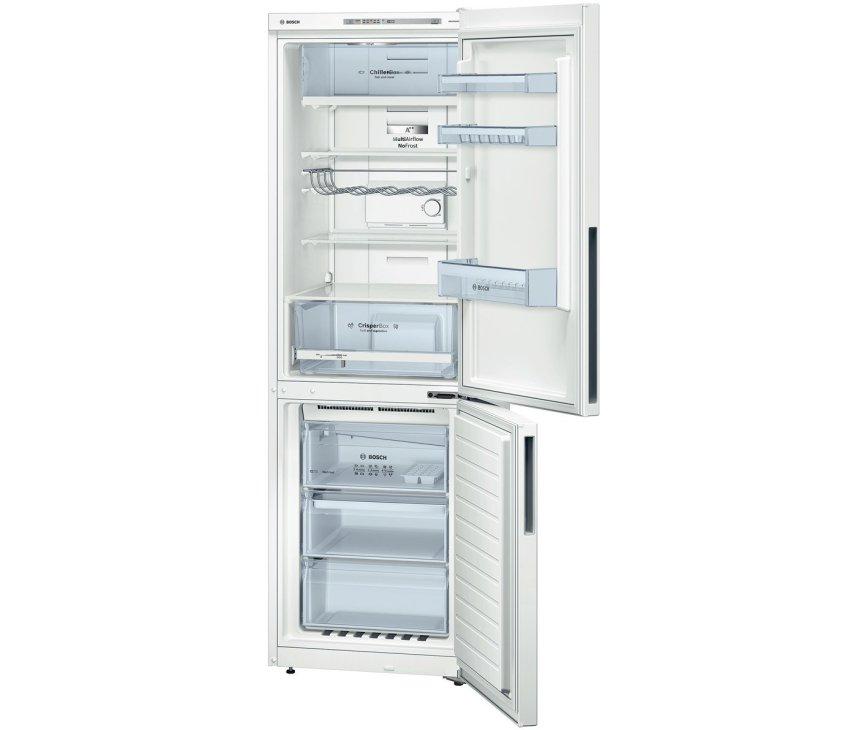 De Bosch KGN36VW31 koelkast wit heeft een totale netto inhoud van 319 liter