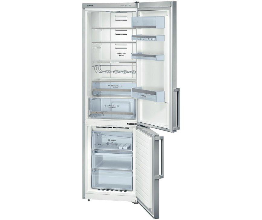 De Bosch KGN39XL32 koelkast RVS-look heeft een totale netto inhoud van 355 liter