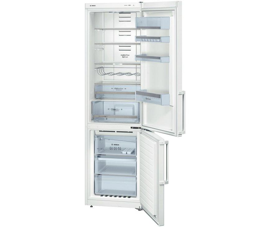 De Bosch KGN39XW32 koelkast wit heeft een totale netto inhoud van 355 liter