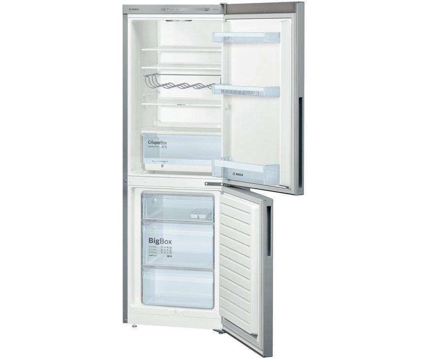 Het interieur van de Bosch KGV33VL31 koelkast rvs-look
