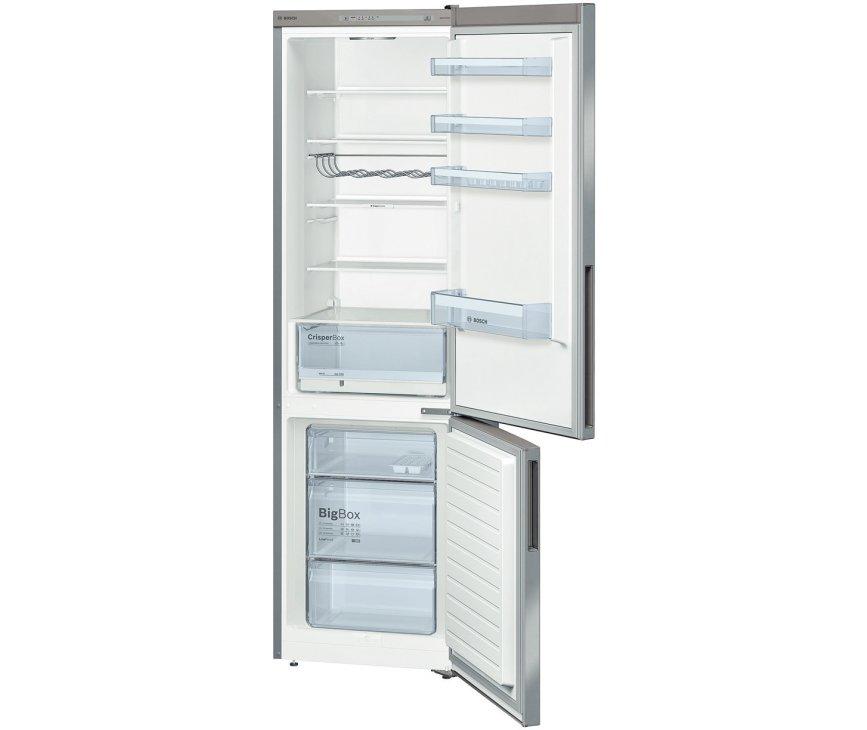 Het interieur van de Bosch KGV39VI31 koelkast RVS