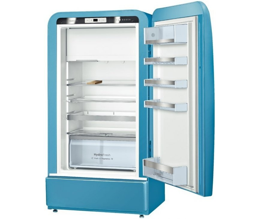 De binnenzijde van de Bosch KSL20AU30 koelkast blauw