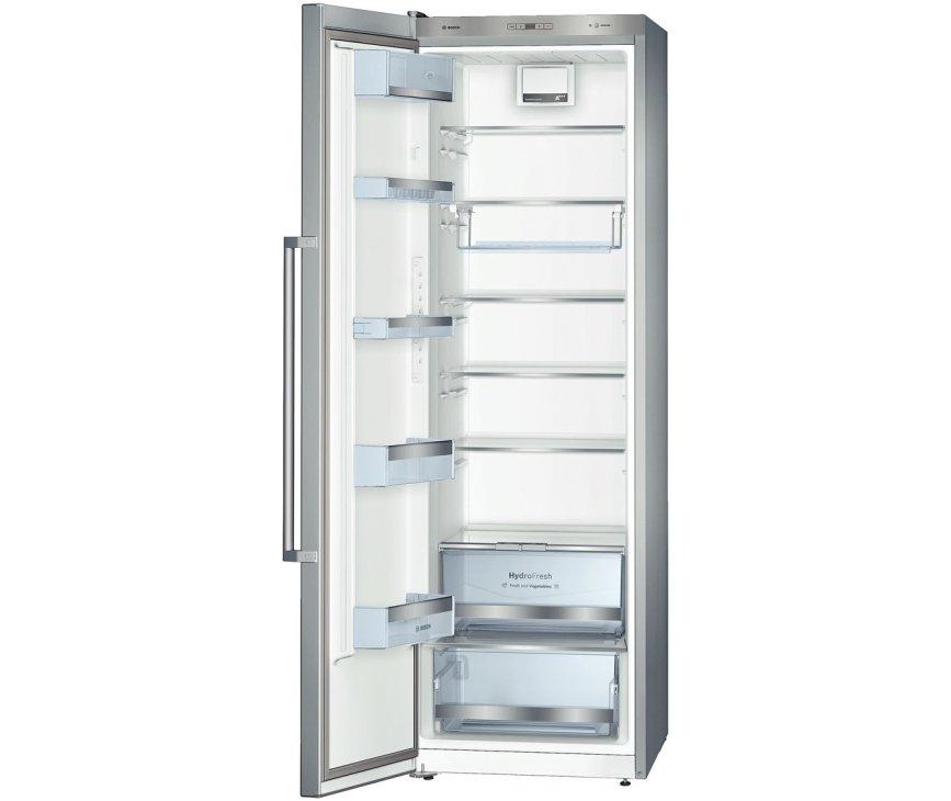 Het interieur van de Bosch KSV36AI40 koelkast rvs