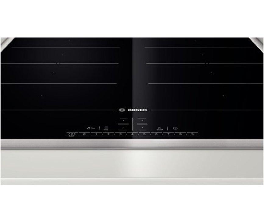 De Bosch PIV645F17M inductie kookplaat beschikt over PowerBoost-functie voor alle kookzones