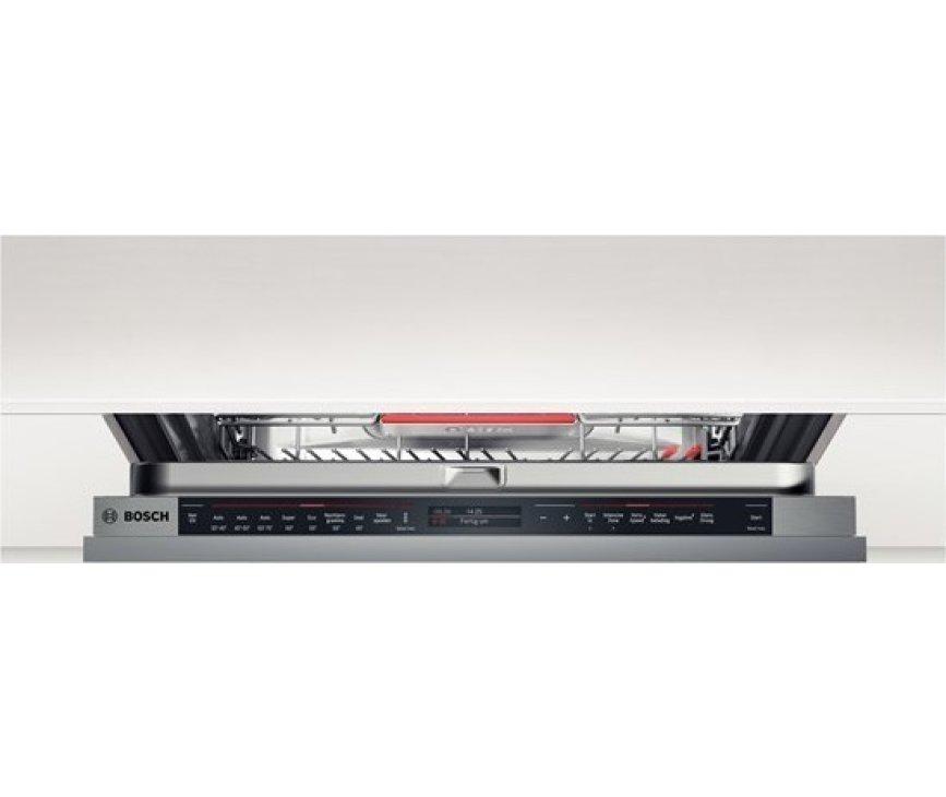 De Bosch SBV88TX01N inbouw vaatwasser hoog heeft een digitaalbedieningspaneel in de deur