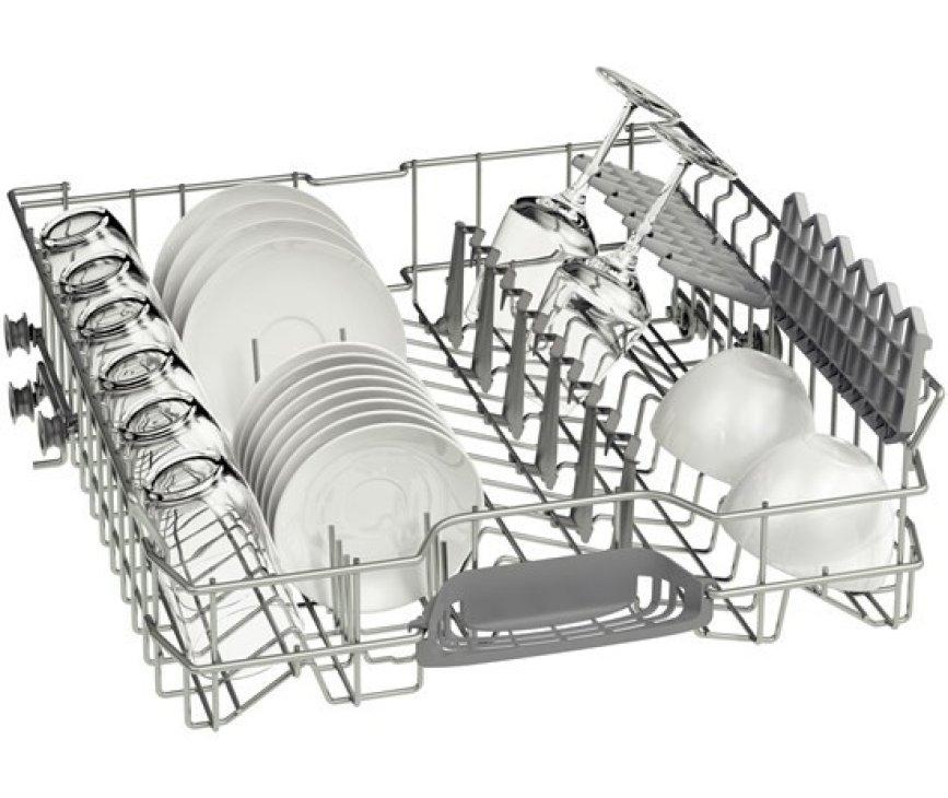 De Bosch SMS50D12EU vaatwasser vrijstaand beschikt over een bovenkorf meet inklapbare steunen
