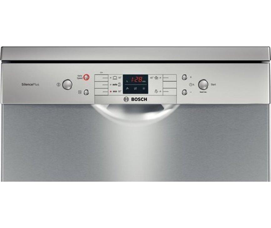 De Bosch SMS53N18EU vaatwasser vrijstaand beschikt over een digitaal bedieningspaneel