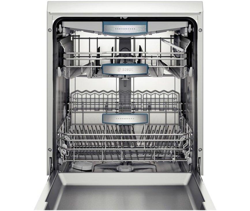 De Bosch SMS69N42EU vaatwasser vrijstaand heeft een capaciteit van 14 standaard couverts